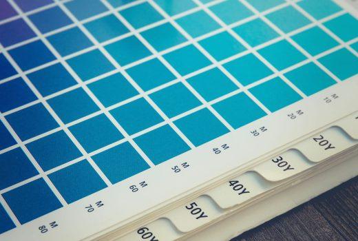 Aqua blue paint palette