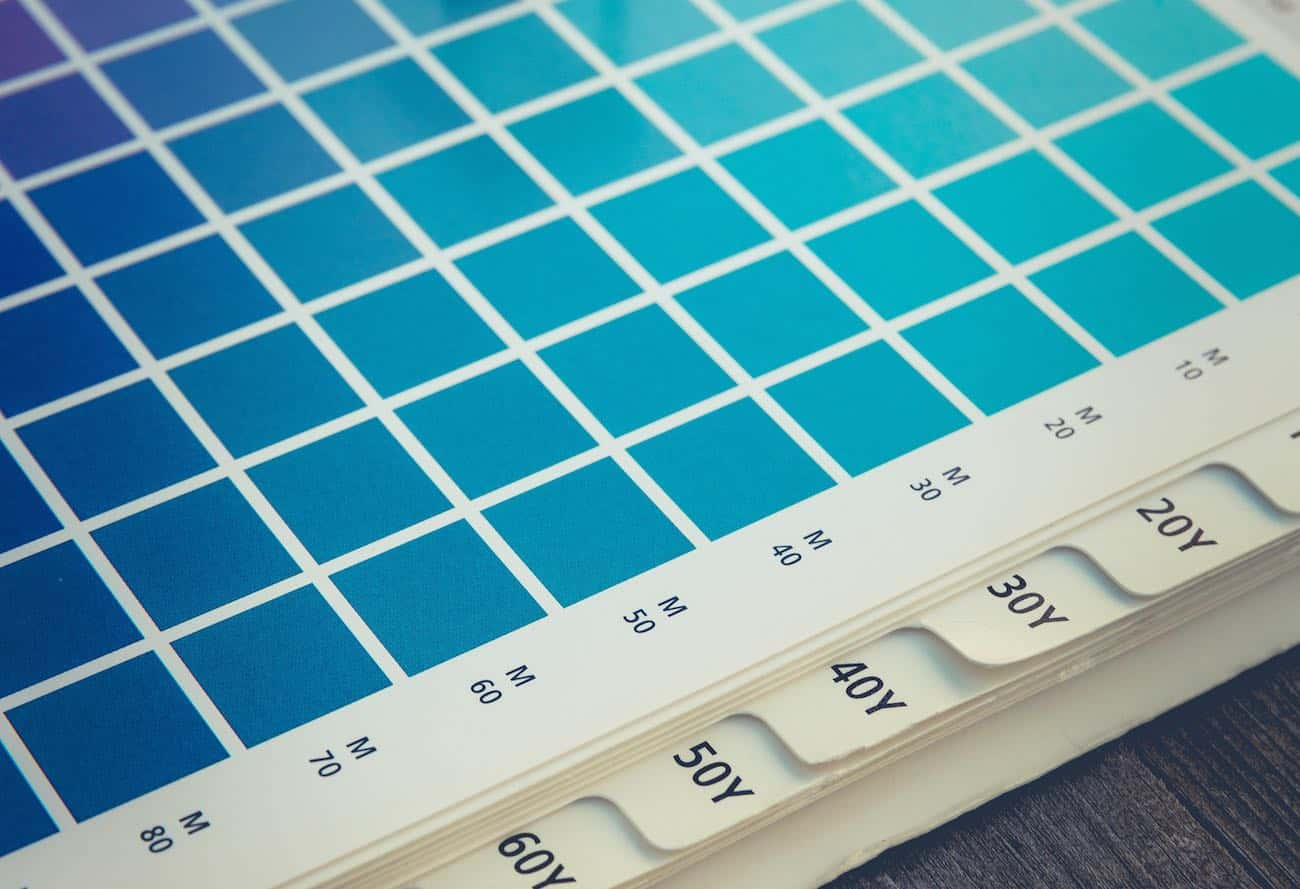 Aqua blue paint palette